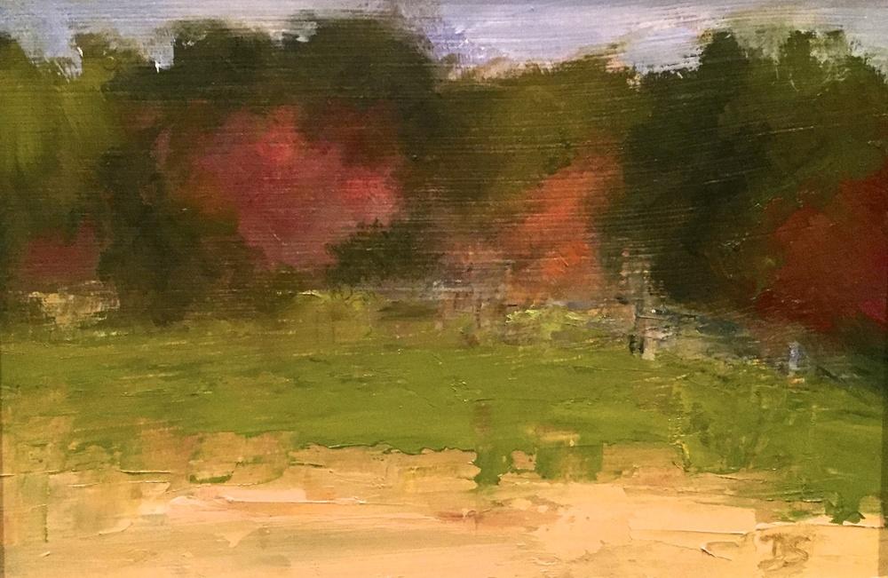 Beauty of Meyer Farm, Oil on Panel, 5x7