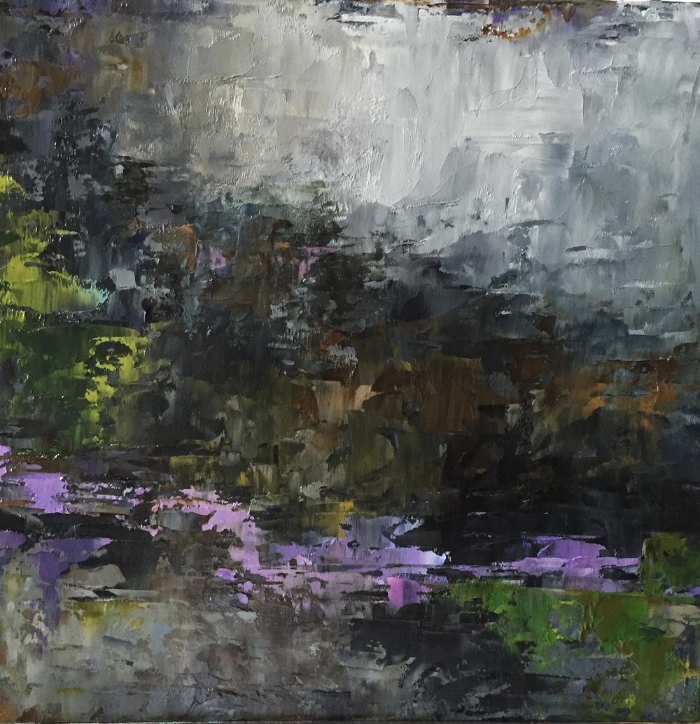 Secret Garden, Oil on Board, 8x8