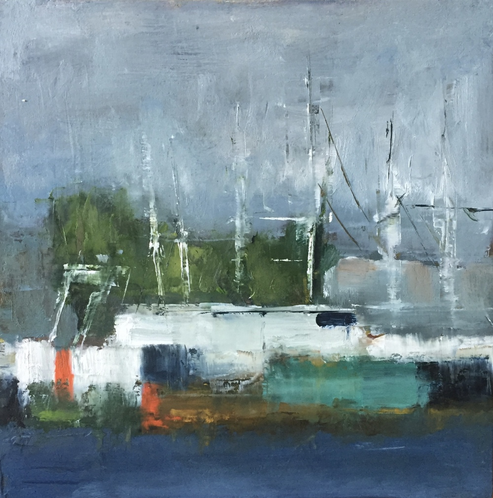 Cape May Trawlers, Oil on Board, 8x8, SOLD