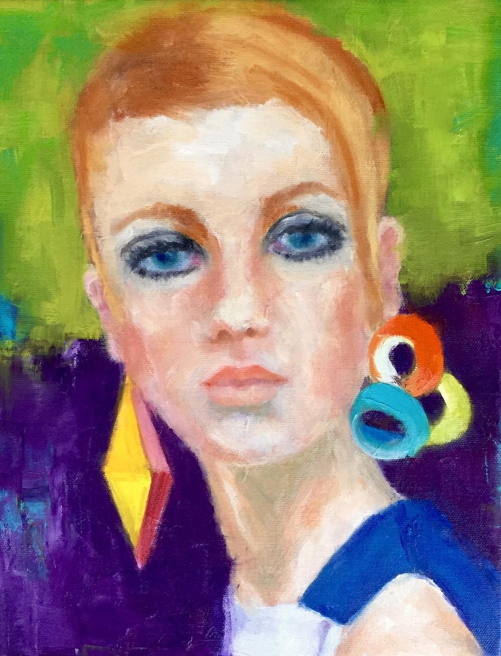 Twiggy, Oil on Canvas, 11x14