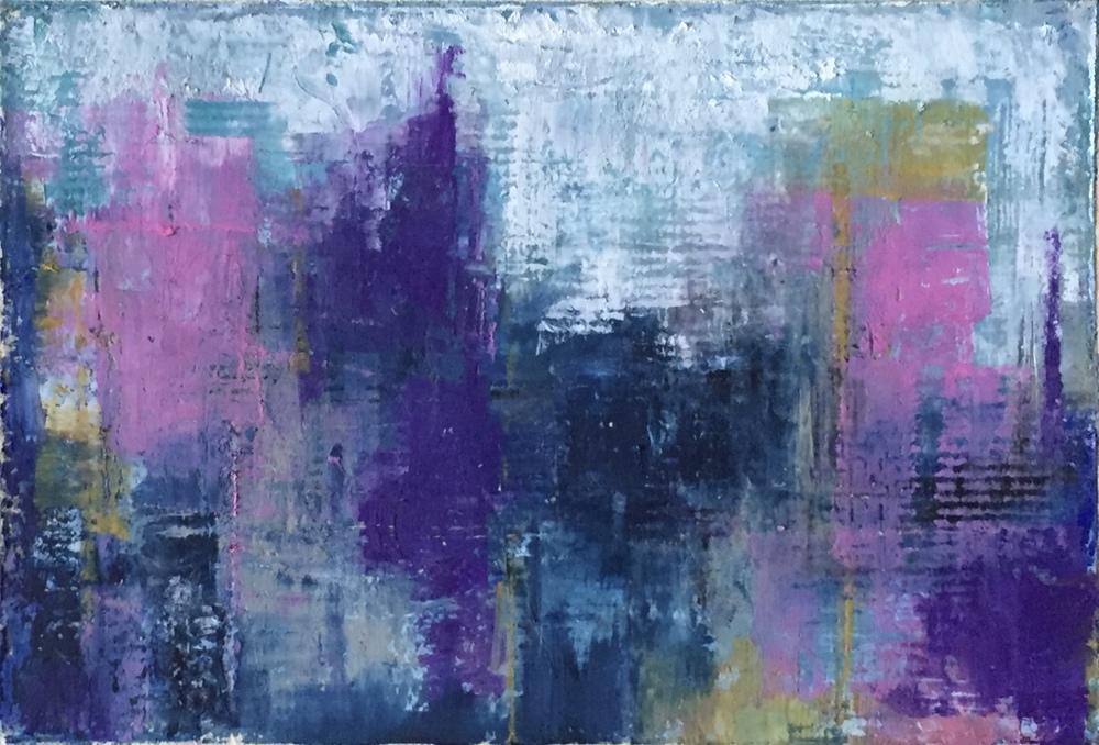 Cityscapes, Oil Pastel, 8 1/2x 11 1/2