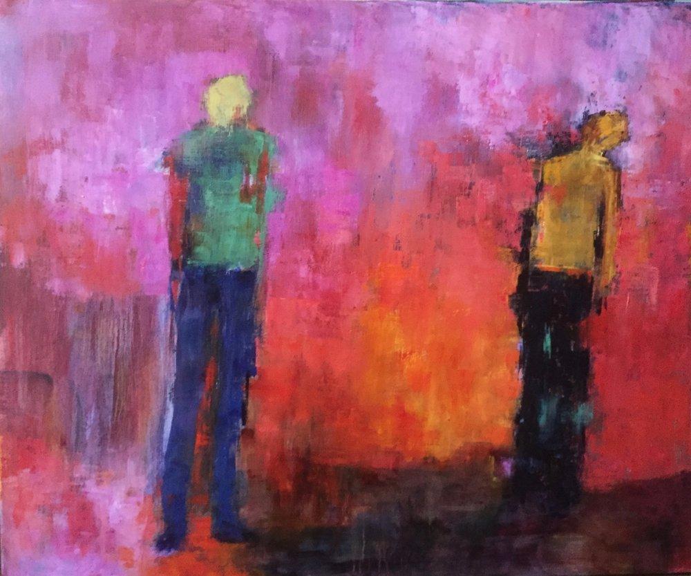 "Deception, Oil on Canvas, 30""x36"""