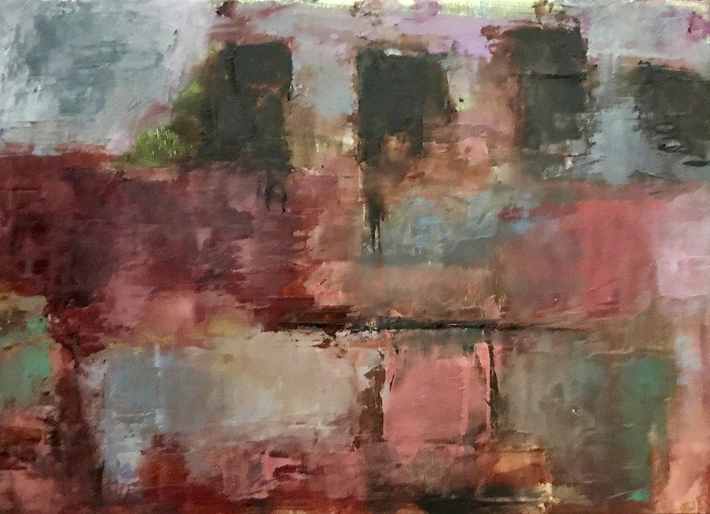 Lukens Steel, Coatesville, PA, Oil on Panel, 5x7