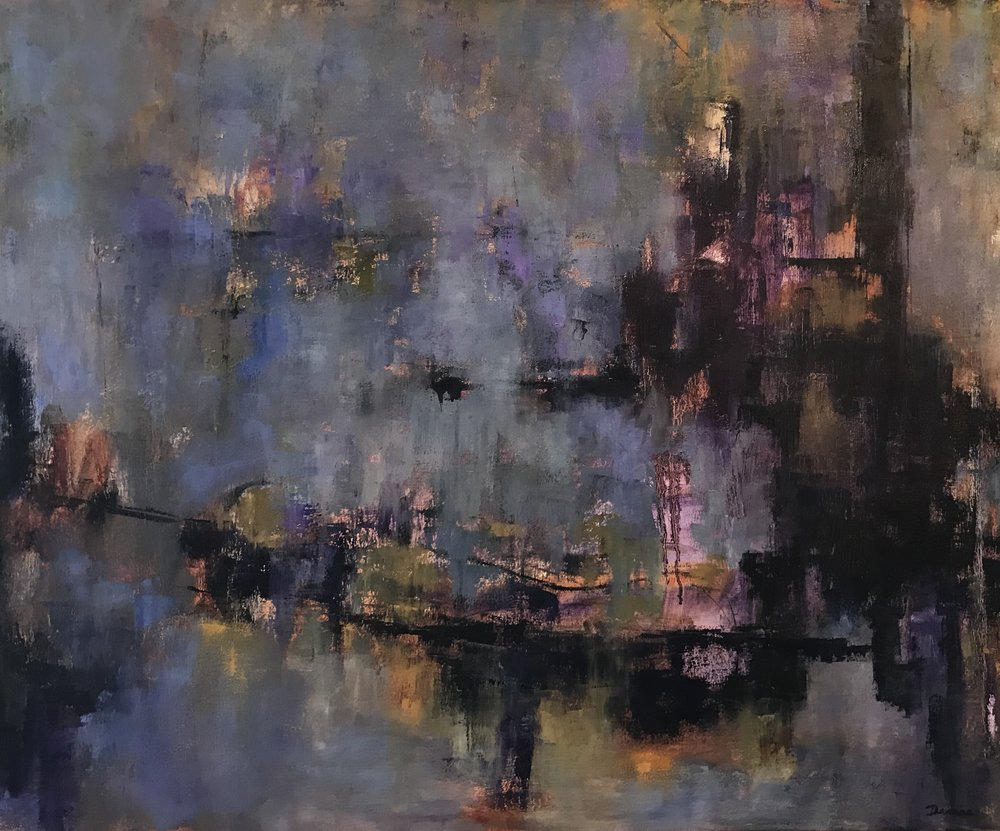 "Forgotten City, Oil on Canvas, 36x30"""