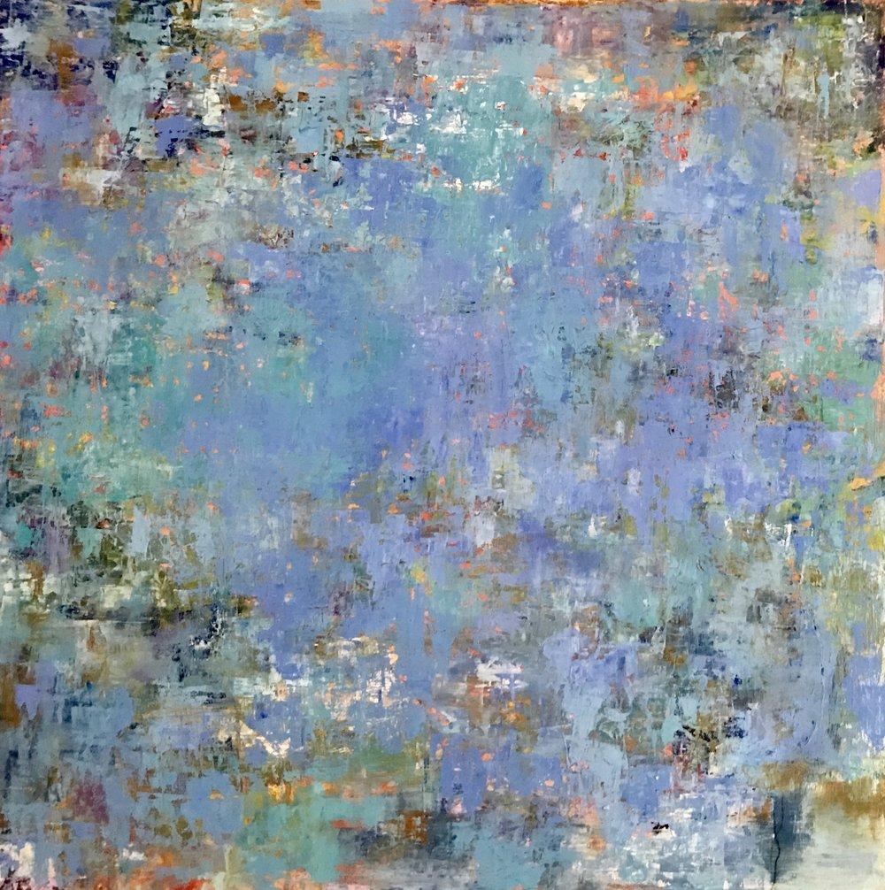 Blue Lagoon, Oil on Board, 24x24