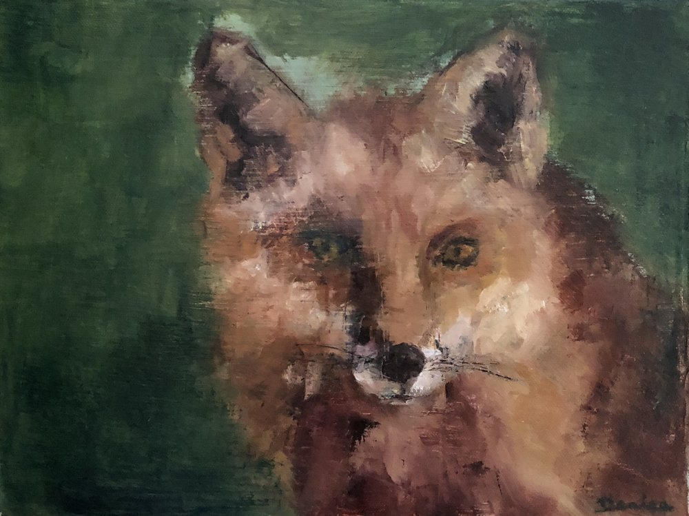 Feeling Foxy, Oil on Canvas, 9x12