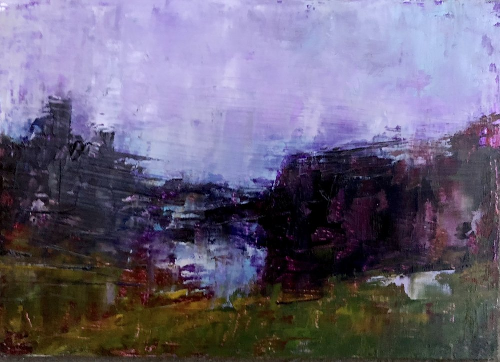 """Irish Landscape, Oil on Panel, 5""""x7"""""""