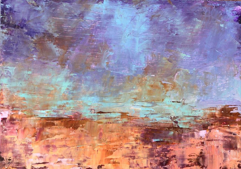 "Big Sky, Oil on Panel, 5""x7"", SOLD"