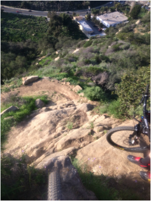 The PG trail in Laguna Beach is not very fun on the hard tail. Lot's of gnarly stuff!