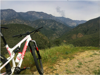 Mid week intervals in Cucamonga Canyon. My bike takes me to some unique and beautiful spots!