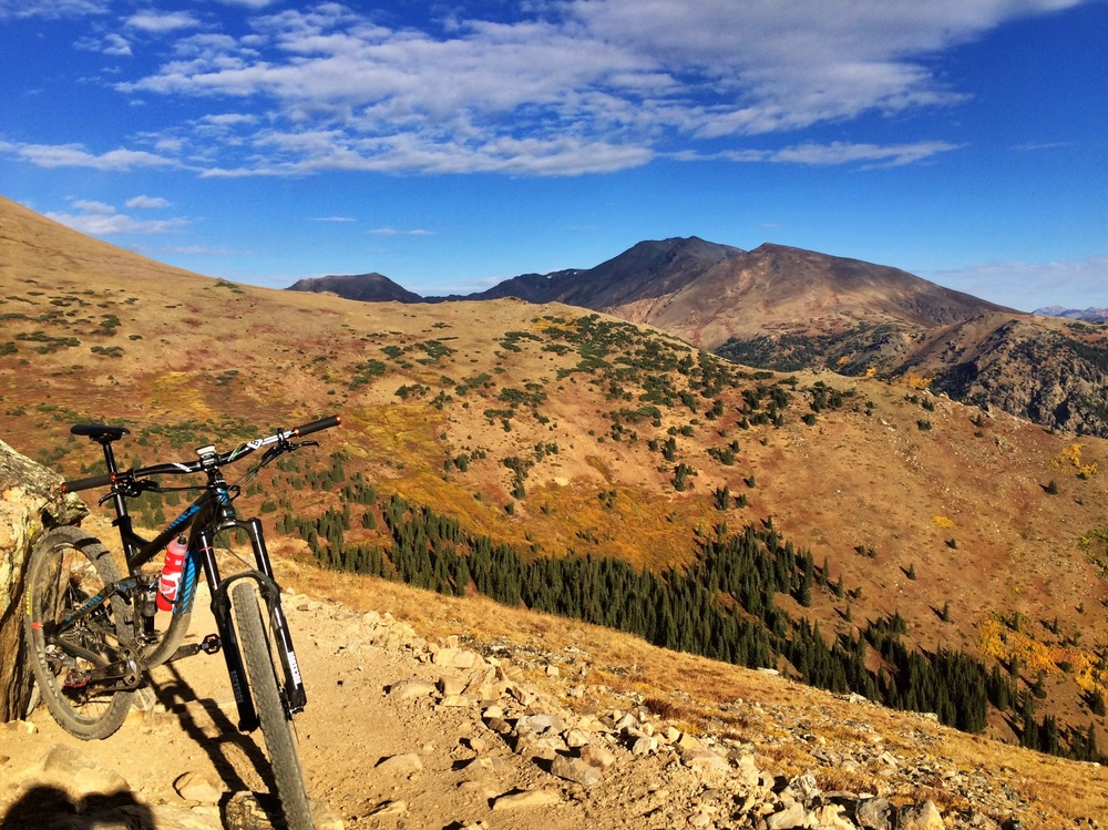 Go big or go home right? Went straight to work on day 1 by riding (well, more like hiking) my bike up Colorado's tallest mountain; Mount Elbert. The views at the top where incredible and the descent back to the car had me grinning from ear to ear.