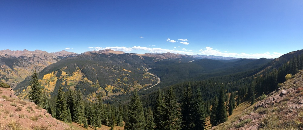 Day 4 brought us to Vail, Colorado for the Vail Outlier festival. This was the view from the top of the course. Prior to the event, I had never raced my bike up a hill that long. And I'd be ok if that was the last time!