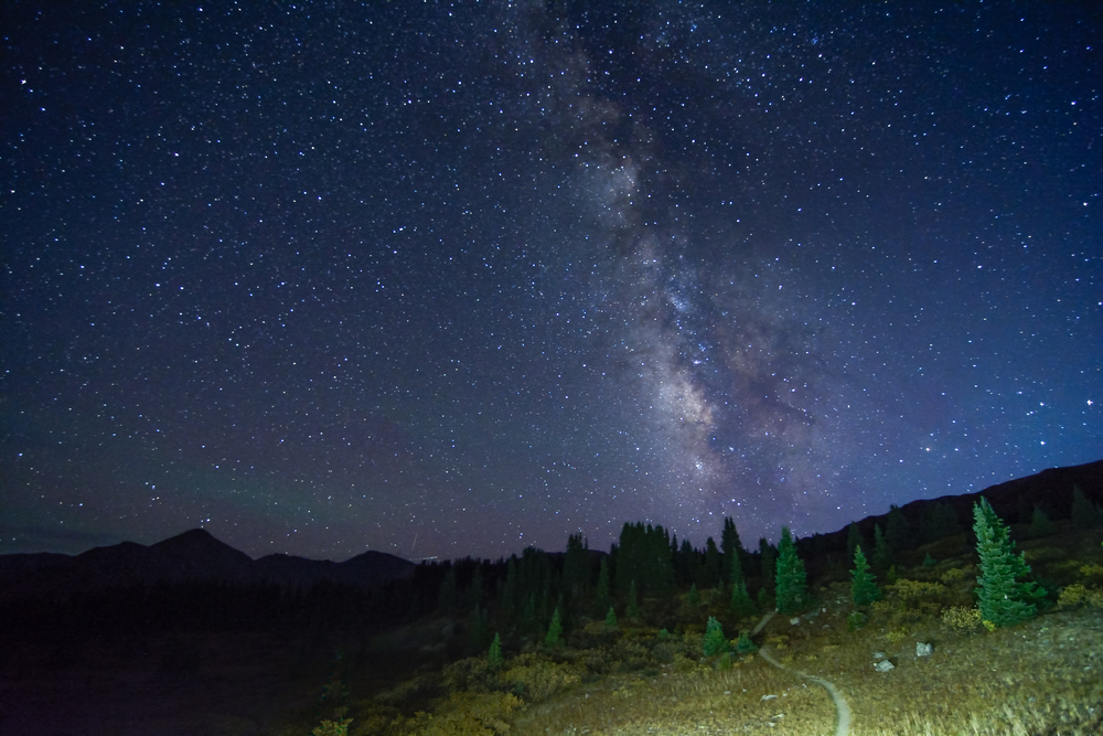 As the moon's brightness faded out, the Milkyway and whole night sky shinned brighter than ever.