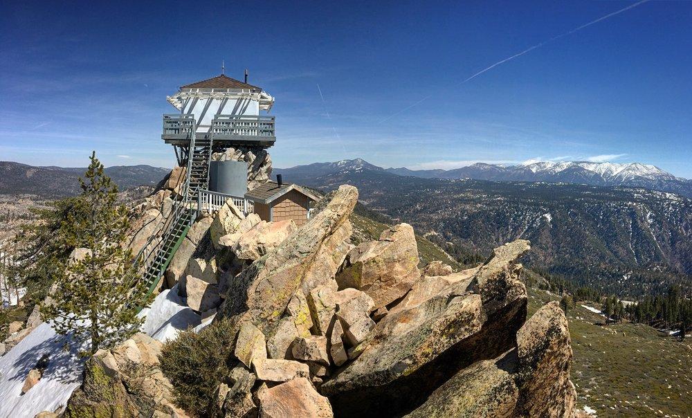 Exploring what Big Bear has to offer. Butler Peak overlook.