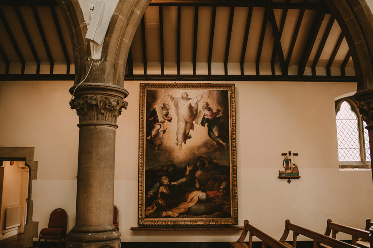 painting of jesus and angels in london catholic church