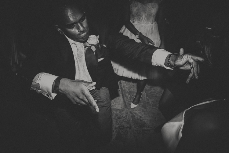 groom dancing at syon park wedding reception