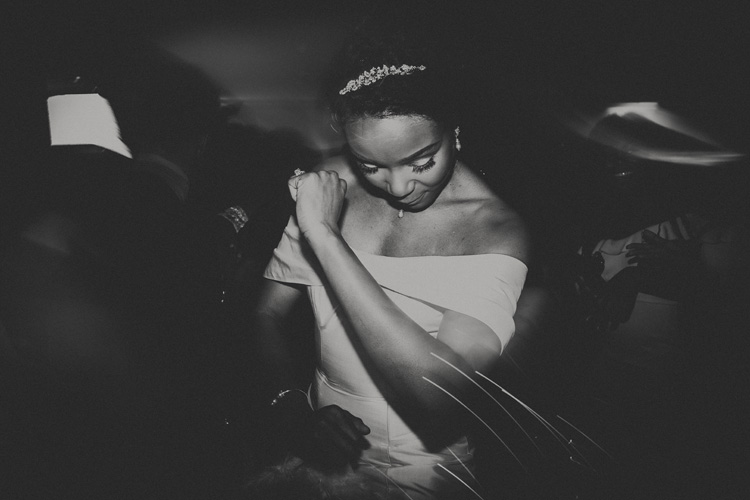 black bride dances at froyle park wedding ceremony
