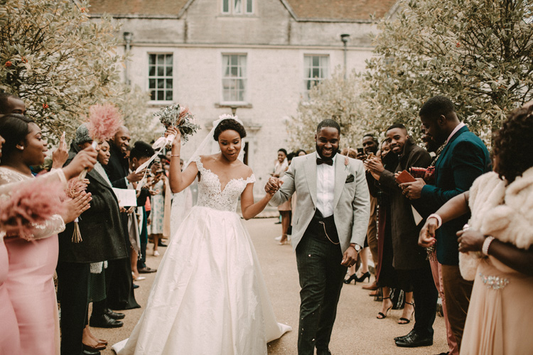black couple in froyle park recessional