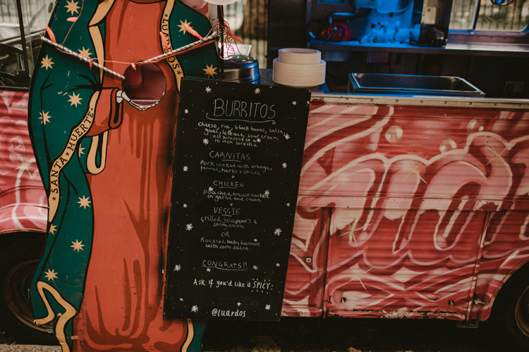 menu for mexican food truck in london hindu wedding reception
