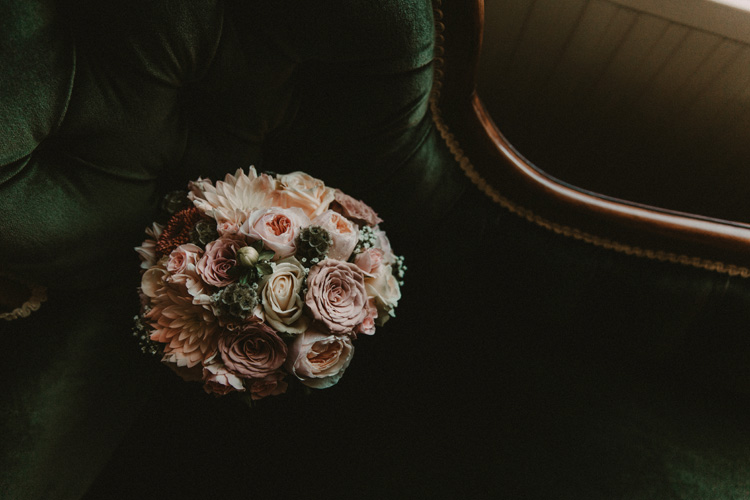 vintage bouquet in quex park wedding