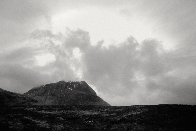 landscape shot of glencoe mountain during glencoe engagement