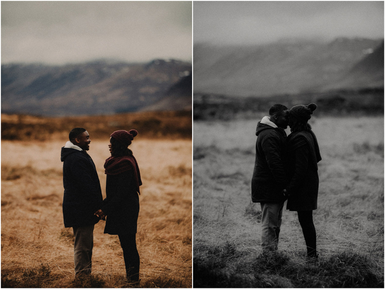 couple sharing intimate moment touching foreheads in glencoe engagement