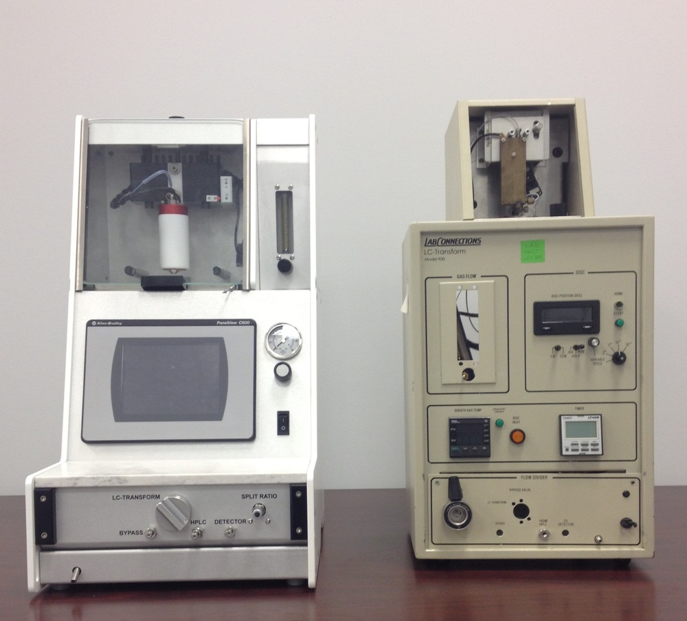 HTX LC-Transform 700 Series (left) shown next to LabConnections LC-Transform Model 400 (right)
