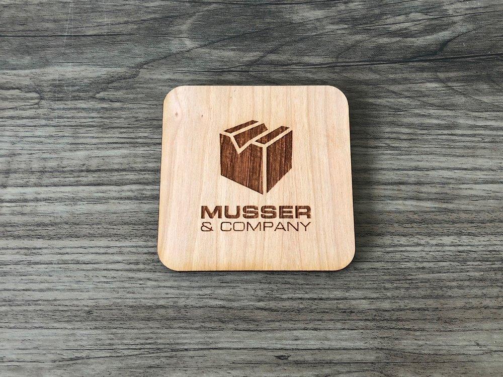 Company Logo Coaster Example