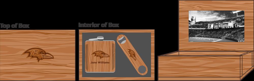 Hardwood Bottle Opener & Flask Box