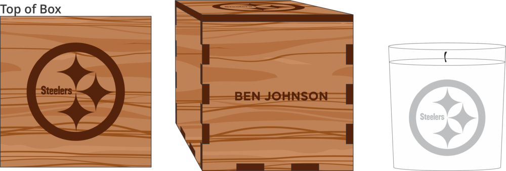 Veneer White Candle Box