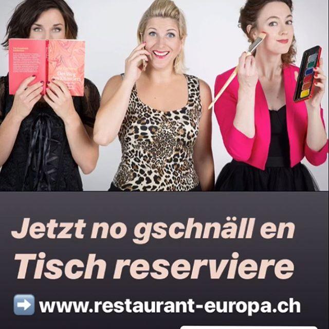 Morn 9. März, in Züri, Restaurant Europa in Hottinge!  Ässe chamer ab de 18:00 - Showtime 20:00  #läbenamlimit #singerellas #uftritt #bühni #💥