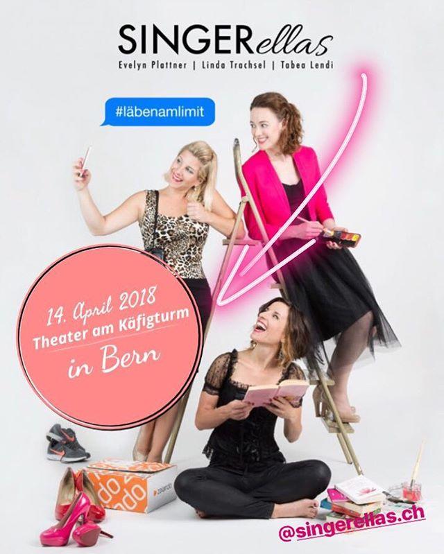 Am 14. April git wieder mau d'Linda es Heimspiel! Mir fröie üs uf üse Uftritt im Theater am Käfigturm z'Bärn.  Tickets ➡️ Link in Bio  #singerellas #läbenamlimit #showtime #uftritt #bern #kabarett #mundart