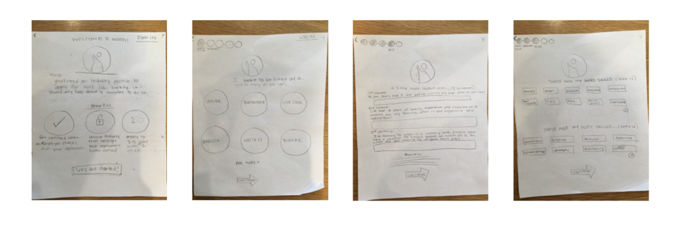 Paper prototype to test users before wireframing
