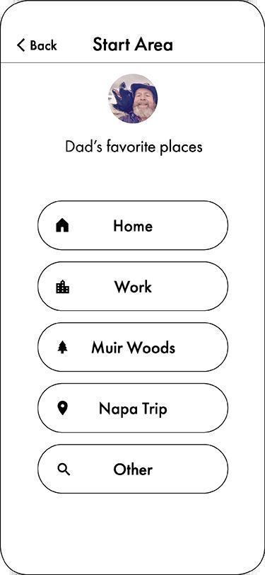 message destination screen