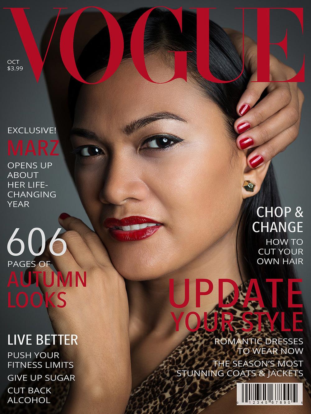 fictive Vogue cover page