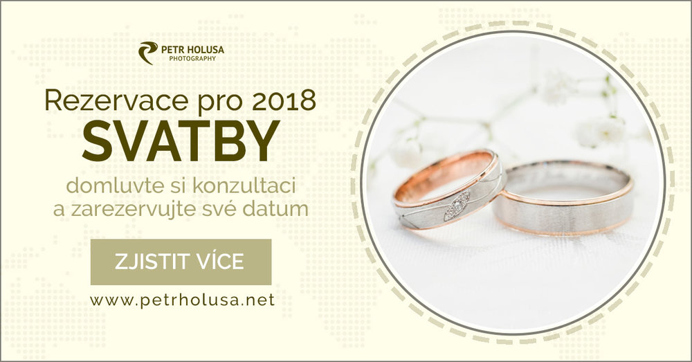 rezervace svatby 2018