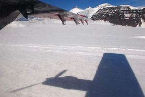 Landing on GBF glacier.