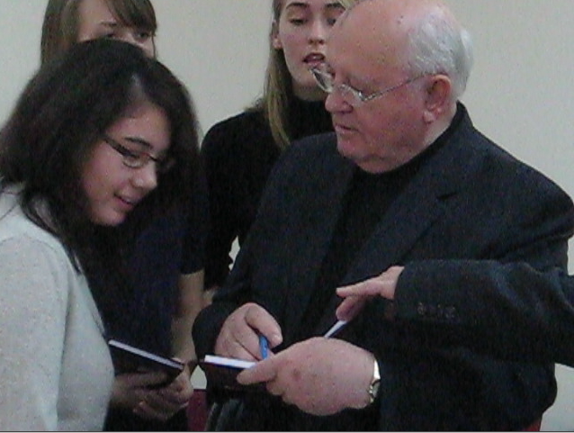 President Mikhail Gorbachev and Beth.png