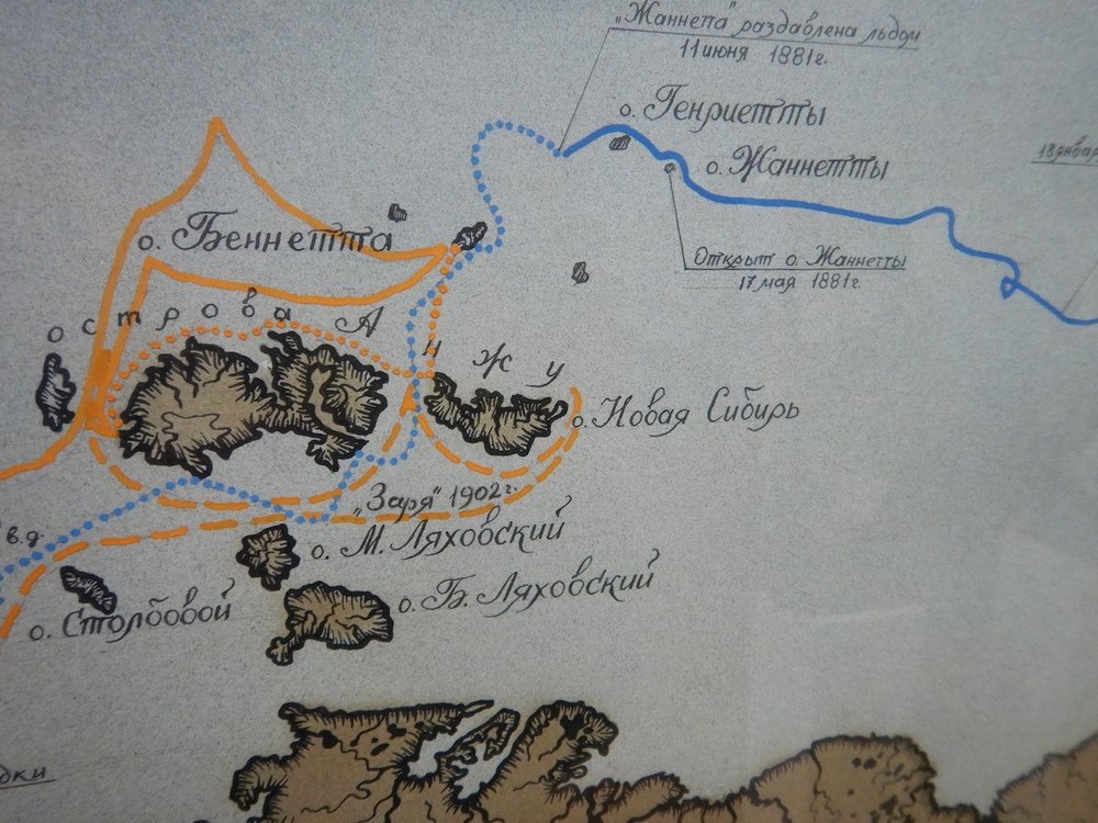 A beautiful old map showing where the Pax Arctica expedition was doing its discoveries in the past few weeks...