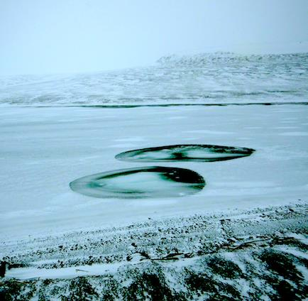 Arctic landscape in the  New Siberian Islands ...