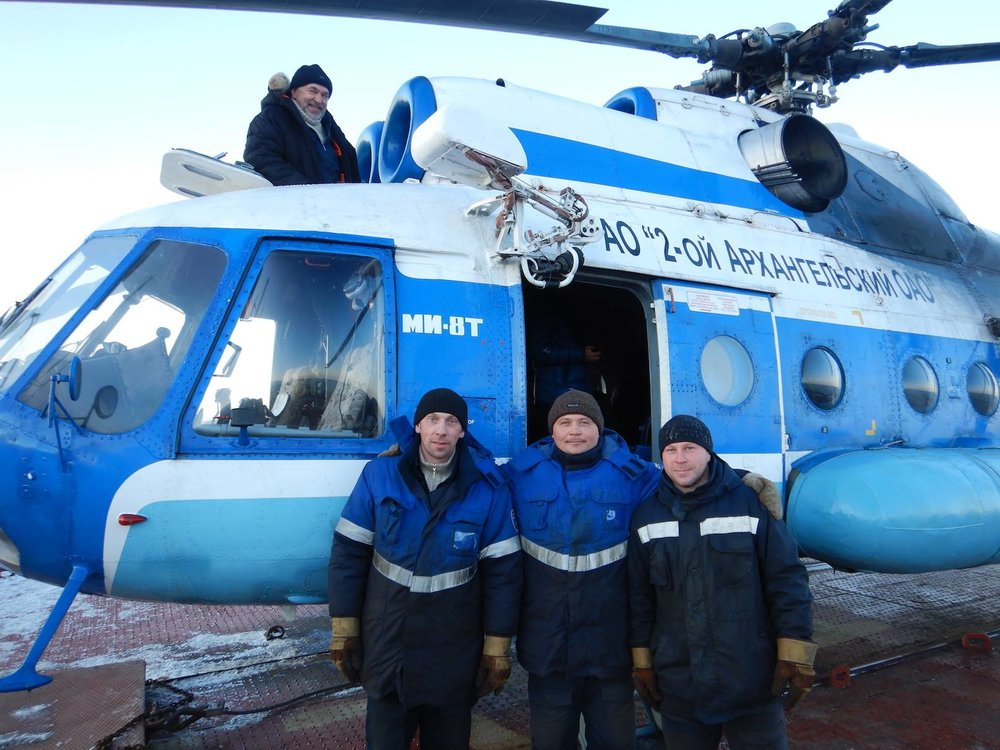 Thanks to our Mi-8 and its crew, we could access spots never before visited...