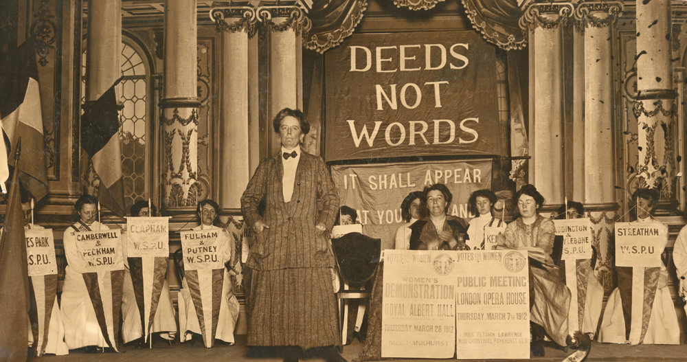 Dame Ethel Smyth at a Women's Social and Political Union meeting, 1912 | © London School of Economics Library