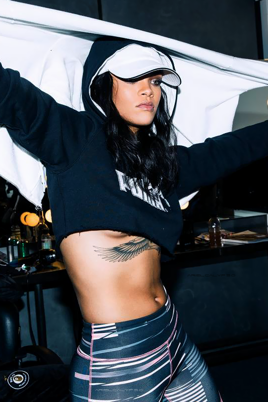 """streetbefashion :      arielcalypso :     Rihanna behind the scenes for """"PUMA"""" (2015)        Dress Well Or Die Trying   :     Follow streetbefashion"""