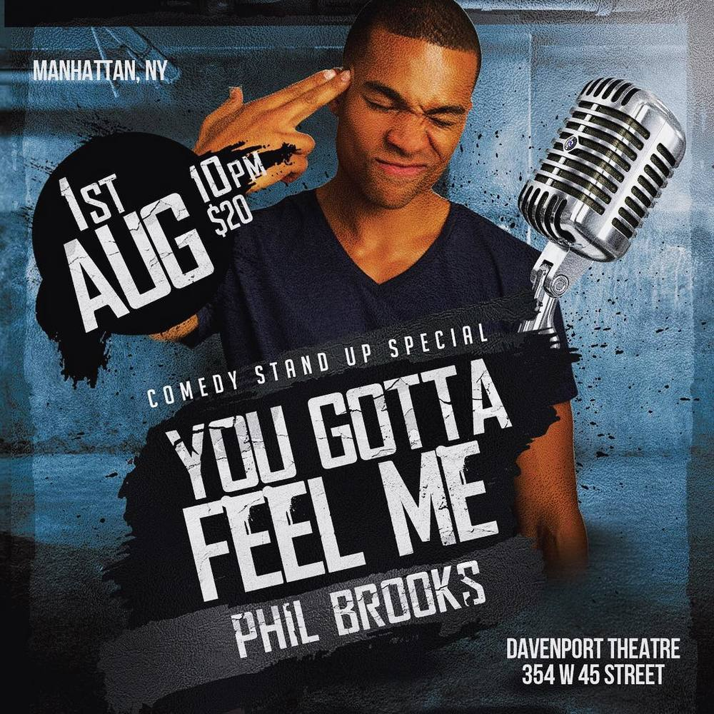 Next week catch me in NYC, with my bro @ugottaphilme for his comedy special!! I'm on da tables he on da mic!!!  Go follow 👉🏾@ugottaphilme 👈🏾 for more info and link for tickets!!! #NYC #Comedian #FunnyShit #ThinkIWont #YouGottaFeelMe #DMV2NYC