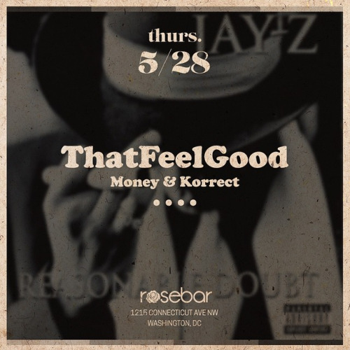 spinsertracy :     #ThatFeelGoodDc is back tonight! Come kick it w/ the home team.  (at Rosebar DC)