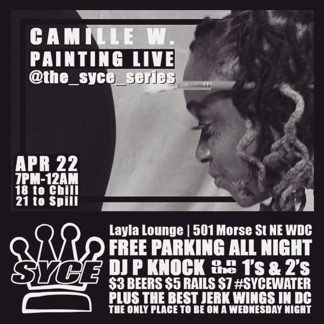 In this weeks #SYCE …   Something different, the talented @therealcamillew will be showcasing her artwork live!! #TheSYCEseries #TûrnDåtShïtLOUD