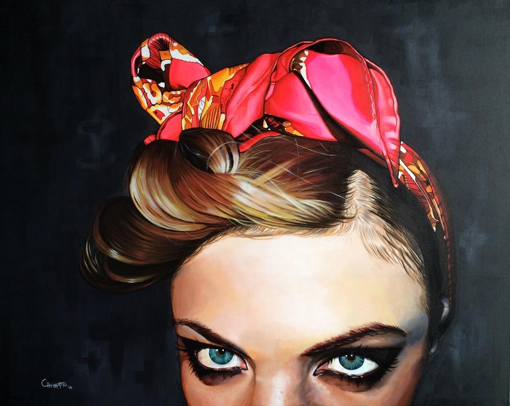 """""""Fovea""""   Acrylic on canvas, 1mt x 80cms  2014"""