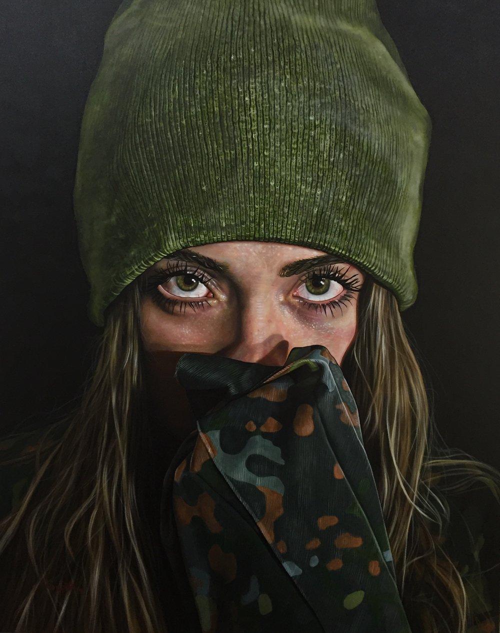 """ Andrómeda""   Acrílico sobre tela, 82cms x 1mt  2017"
