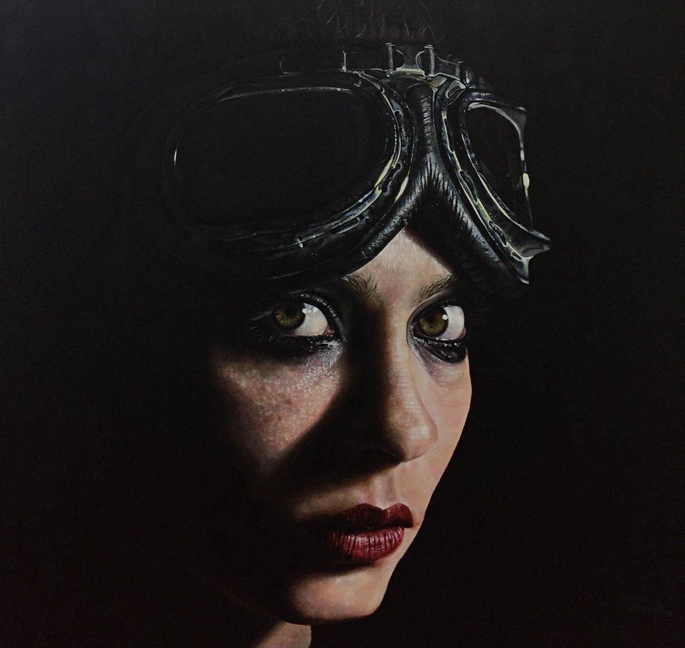 """Paradox""   Acrylic on canvas, 1mt x 82cms  2018"