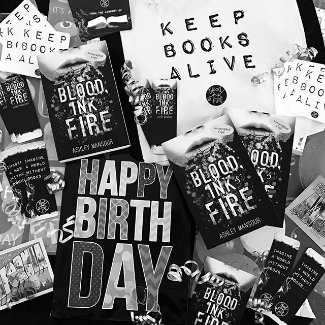 GIVEAWAY TIME! 🎉 Good morning, book lovers! Today is Ashley's birthday and to celebrate we're holding a HUGE giveaway with Victoria from @novelreality!! 🌟🎉🎊🌟 ✨We're giving away three prizes, including two autographed copies of Blood, Ink & Fire signed by author Ashley Mansour Alex Pettyfer, plus one grand prize that includes a signed paperback copy, Keep Books Alive canvas tote, stickers, bookplates, bookmarks, and more!✨ ~~~~~~~~~~~~~~~~~~~~~~~~~~~~~~~~~~~~~~~ ✨How to enter:✨ 1. Must be following @ashleymwrites, @bloodinkfire, @novelreality, & @vintagevampyre 2. Comment below tagging 3 friends. You can do this up to 3 times (9 different people tagged total) 3. Repost this photo with the hashtag #bloodinkandfiregiveaway ~~~~~~~~~~~~~~~~~~~~~~~~~~~~~~~~~~~~~~~ ✨Rules:✨ 1. This giveaway is International! 2. If you are under 18, please have your parents permission. 3. No giveaway accounts. 4. Only repost 2 times per day  5. Your account must be set off of private if you want us to see and count your entry! ~~~~~~~~~~~~~~~~~~~~~~~~~~~~~~~~~~~~~~~ ✨Winners will be announced on February 7th! ✨  #bloodinkandfire #ashleymansour #alexpettyfer #giveaway #books #reading #bloodinkfire #booktube #booktalk #bookstagram #bookish #writer #lovebooks #birthday #bookstagram #giveaway #freebooks #yalit #ya #ireadya #yanovel #yaseries #yabooks #win #totebag #tote #booktube